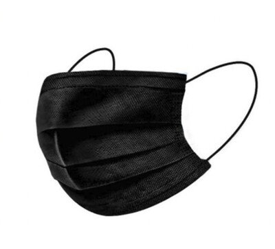 40pc Black 5-Layered Disposable Masks