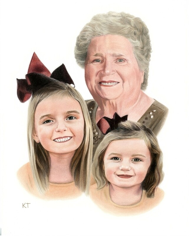 Custom 11x14 inch color portrait (head and shoulders) $240