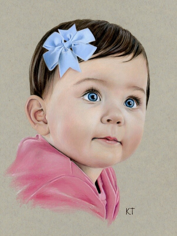 Custom 16x20 inch color portrait (head and shoulders) $285