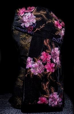 Velvet Embroidered Scarf
