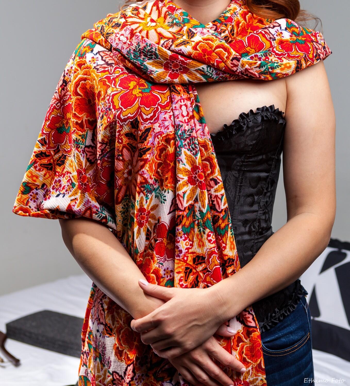Velvet Print scarf
