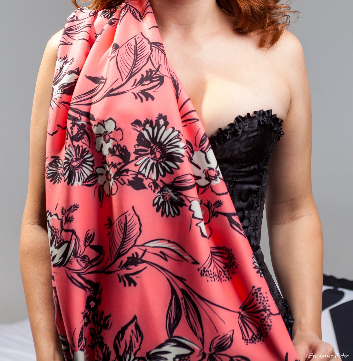 Polyester print scarf