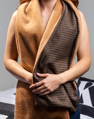 reversible wool and Mohair Scarf