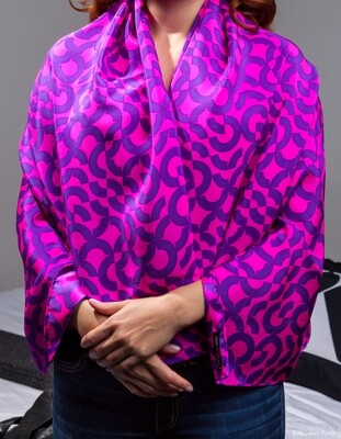 Purple silk wrap