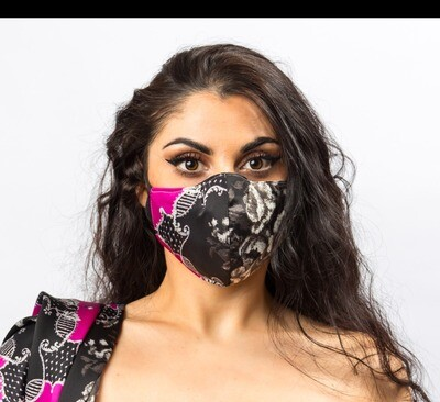 Mask to match Blank and Pink Scarf