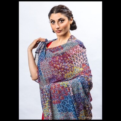 Peacock Paisley Wrap or Scarf