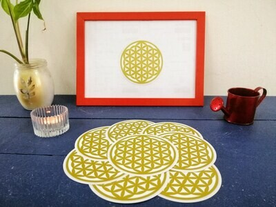 生命之花车贴  Flower Of Life Car Sticker ( 双面 Double Sided )