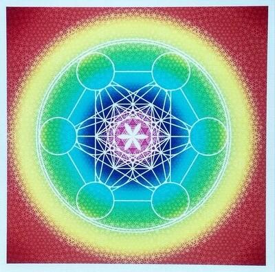 麦达昶立方圣坛布 Metatron Cube Design for Altar