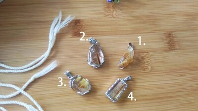 钛晶吊坠 Rutilated Quartz Pendant