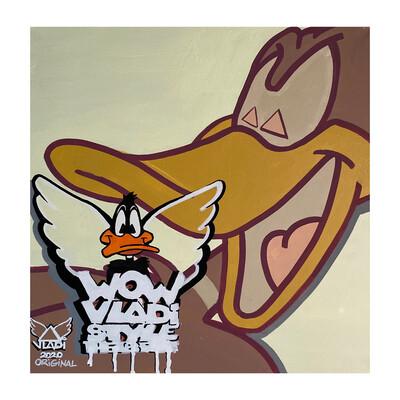 Daffy- Masterpiece 50x50x3 cm Original  Art VLADI