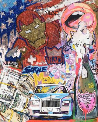 Iron Money - Masterpiece 150x100x5 cm Art VLADi Original