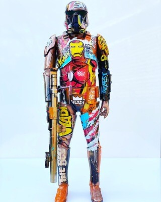 Iron Man -Figuren 80x30 cm Unique Art VLADI