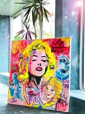 Marilyn Monroe- Masterpiece 100x100x3,5 cm Original Art VLADI