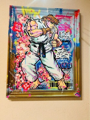 Street Fighter RiO - Masterpiece 97x78x5 cm Original Art VLADI
