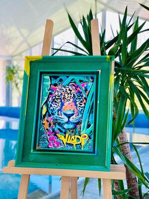 JAGUAR- Masterpiece 56x46x5 cm Original Art VLADI