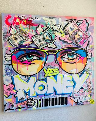 MONEY- Masterpiece 80x80 cm Original Art VLADI