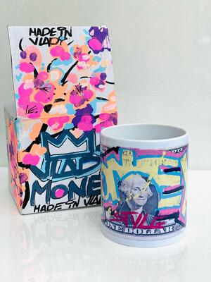 CUP - MONEY- Fine Porcelain