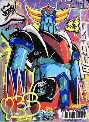 YES Goldorak - LIMITED EDITION PRINT 70x50 Art VLADI