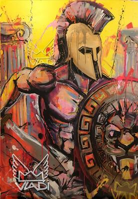 ACHILLES - LIMITED EDITION PRINT 70x50 cm Art VLADI
