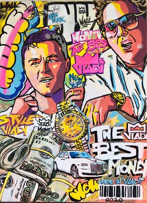 Wall Street Money  - LIMITED EDITION PRINT 70x50 Art VLADI