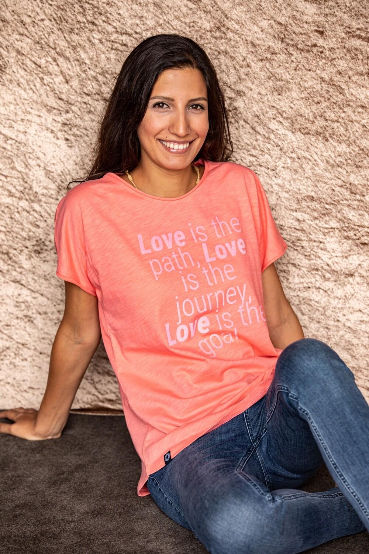 Love is the path Organic T-shirt