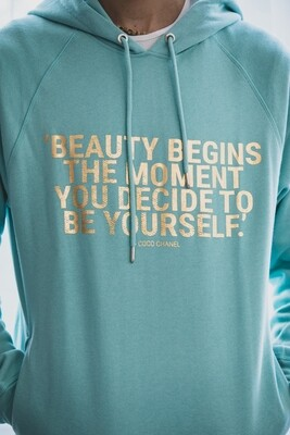 Beauty begins Organic Hoodie