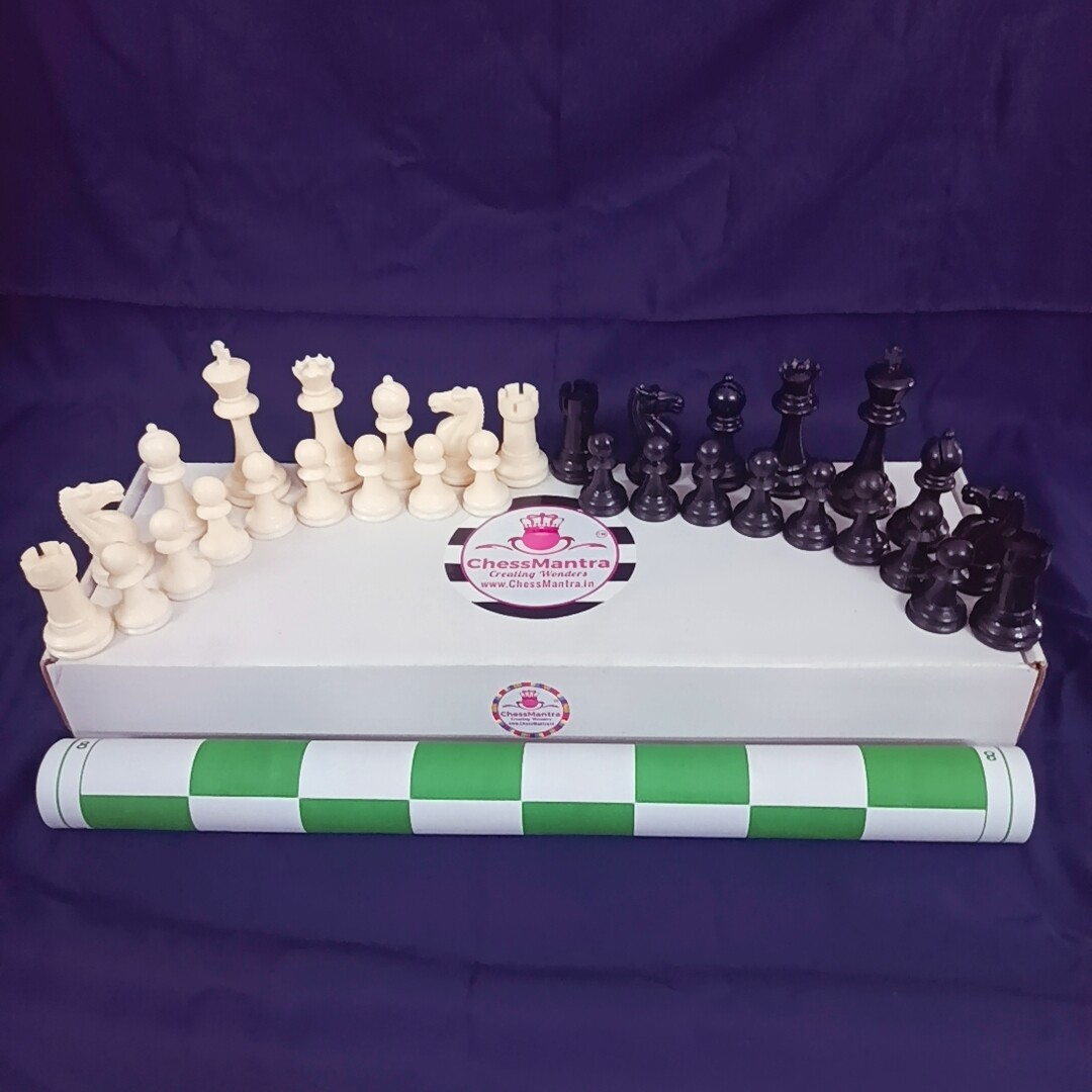 ChessMantra Roll Up Professional  Chess Set 17*17 (Green)