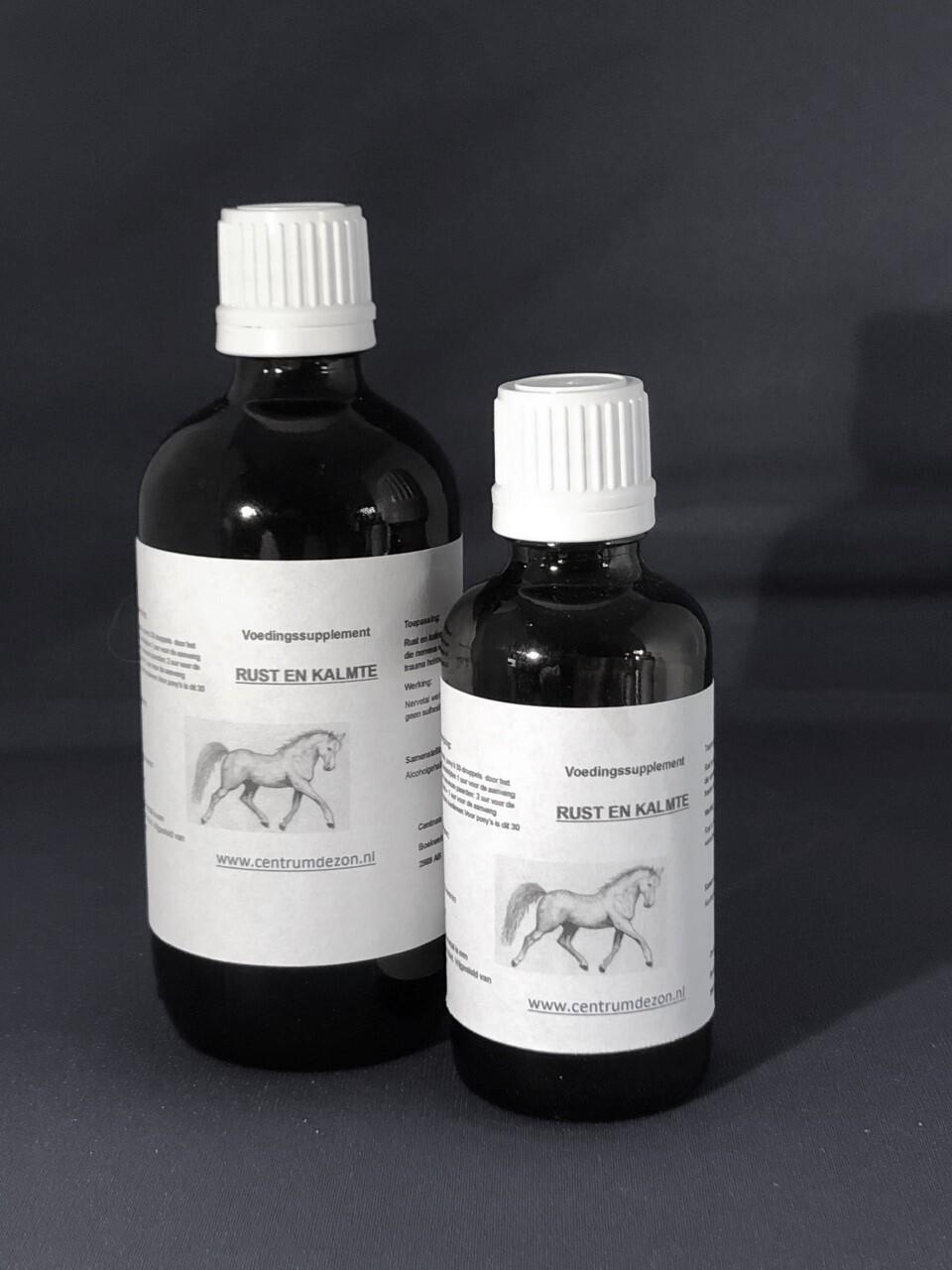 RUST EN KALMTE - Voor nerveuze en overgevoelige paarden.