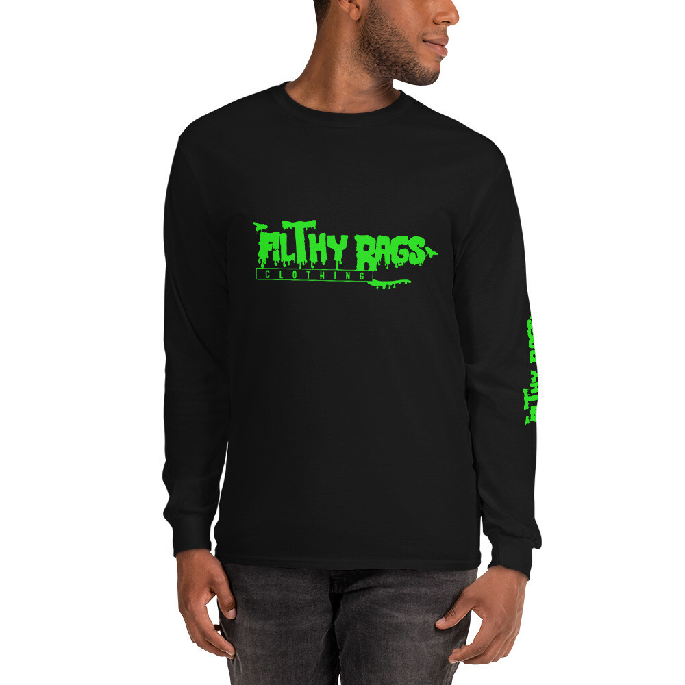 FILTHY RAGS /Green/ Long Sleeve T-Shirt