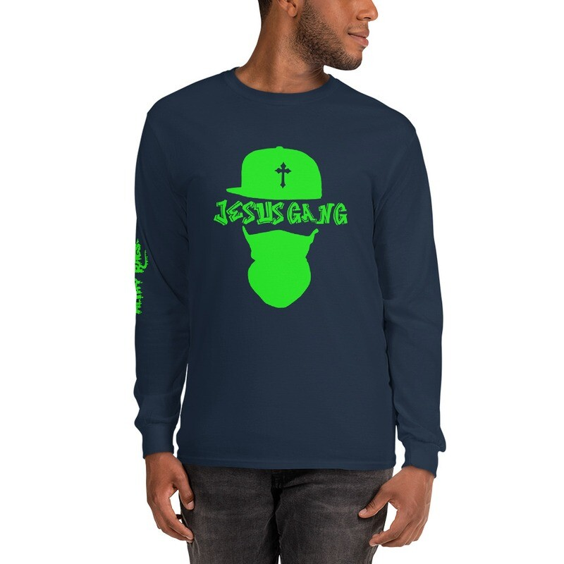 Jesus Gang Green Long Sleeve Shirt