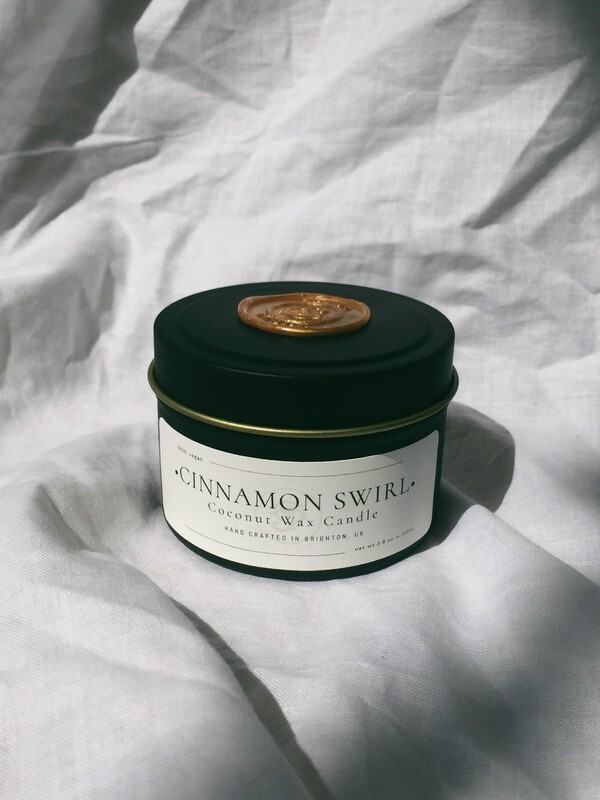 Cinnamon Swirl Tin Candle