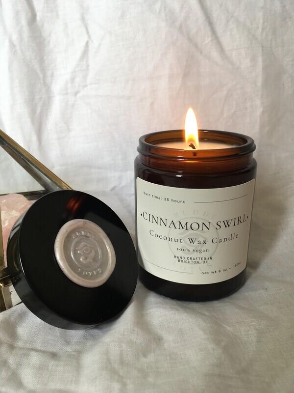 Cinnamon Swirl Coconut Wax Vegan Candle