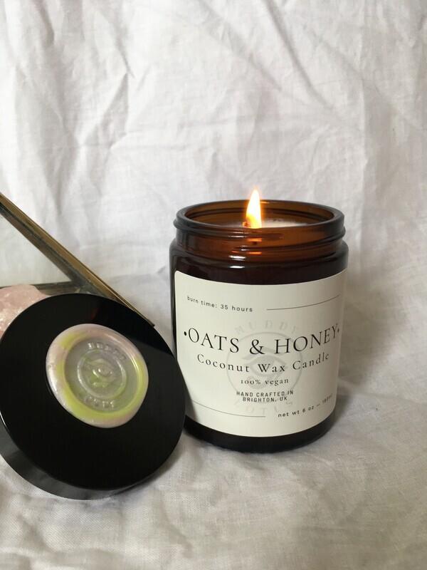 Oats & Honey Coconut Wax Vegan Candle