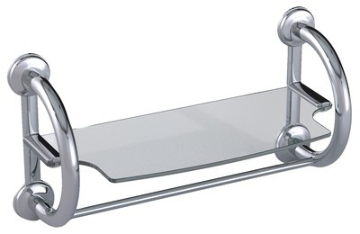 3-in-1 Grab Bar Towel Shelf Available in 3 Finishes