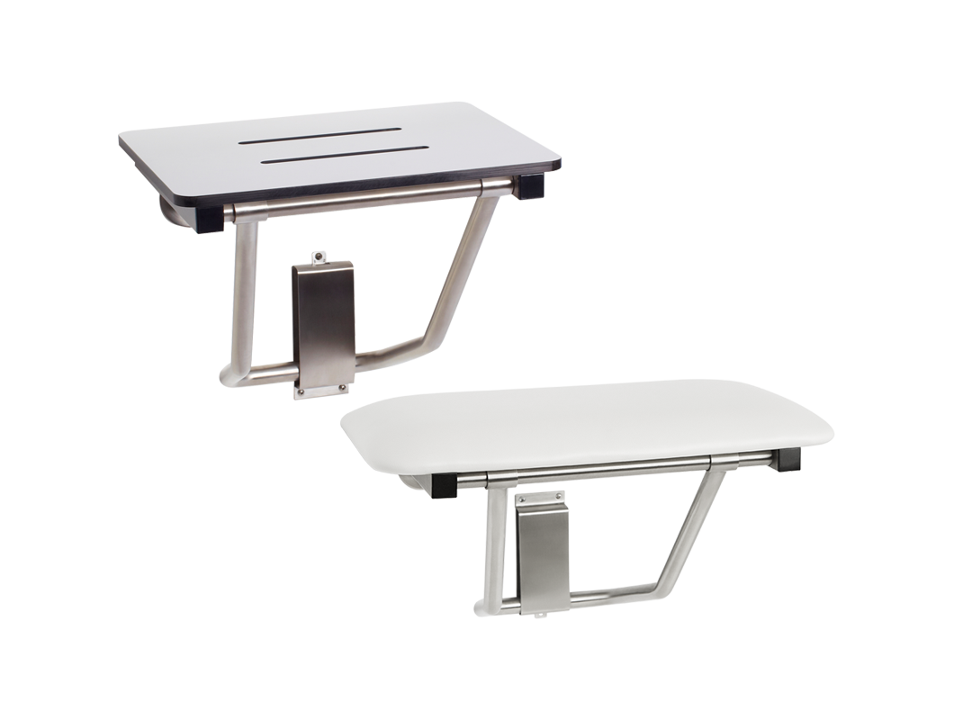 Shower Seat - Bench Style (One-Piece Solid HDPE - White Only)