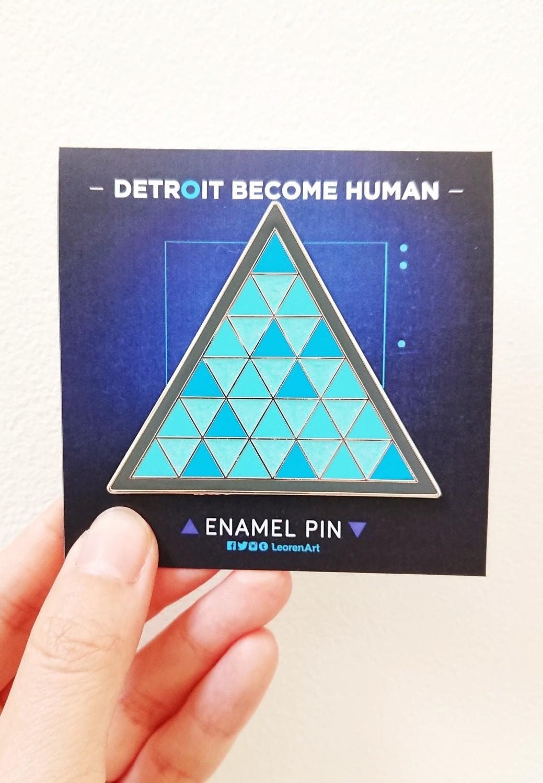 Detroit Become Human - Hard Enamel Pin + Glitter