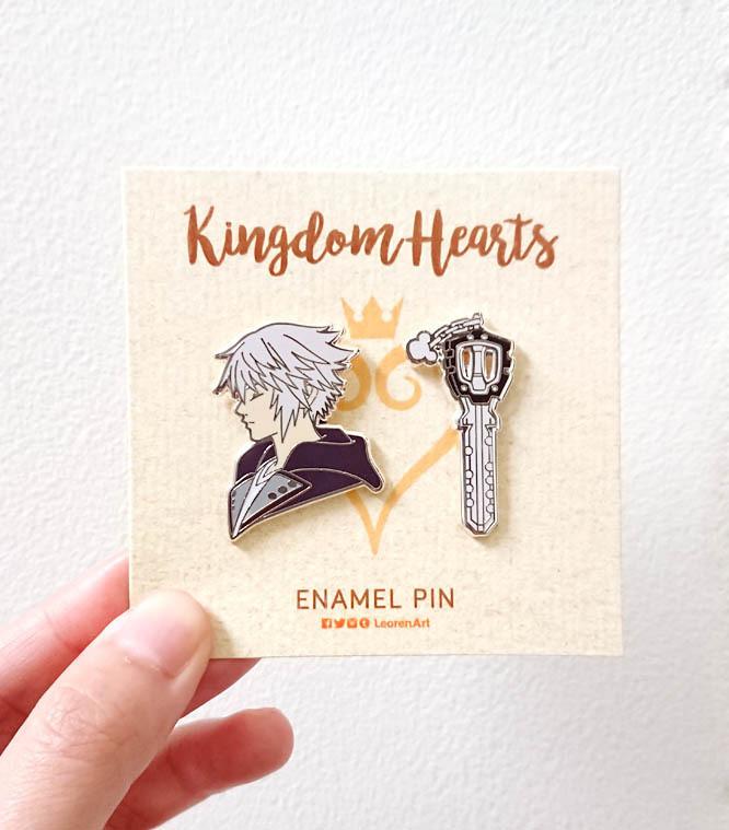Kingdom Hearts - Riku + Keyblade - Hard enamel pin