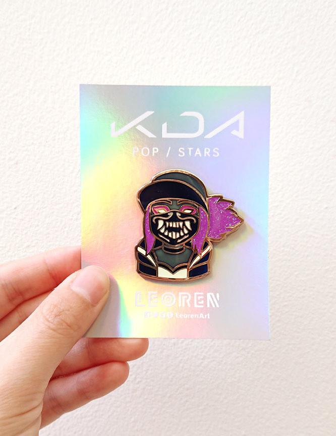 KDA POP/STARS - Akali - Glow in the Dark + Glitter - Hard Enamel Pin
