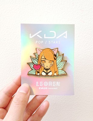 KDA POP/STARS - Ahri - Glow in the Dark + Glitter - Hard Enamel Pin
