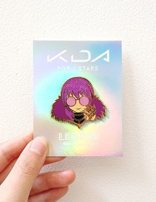 KDA POP/STARS - Evelynn - Glow in the Dark + Glitter - Hard Enamel Pin