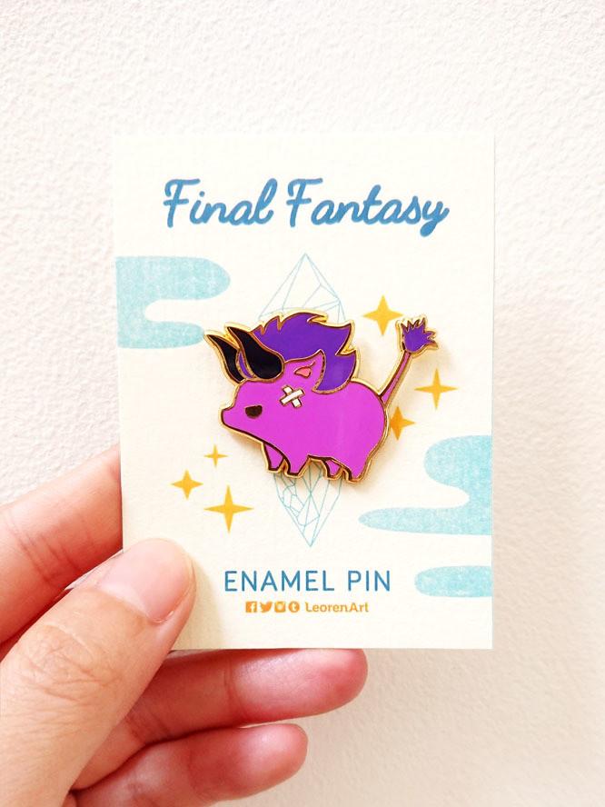Final Fantasy Bahemoth - Hard Enamel Pin