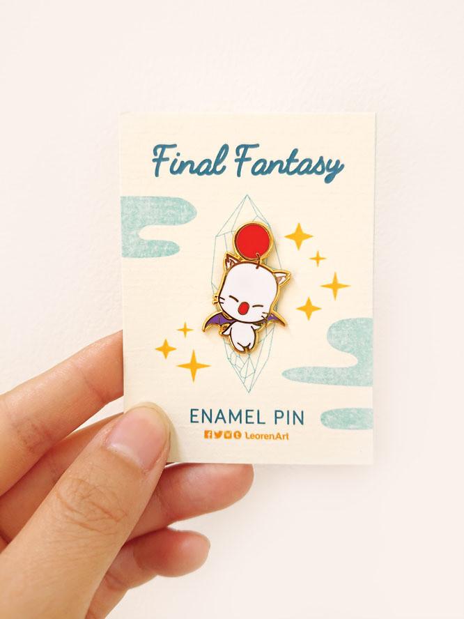 Final Fantasy Moogle - Hard Enamel Pin