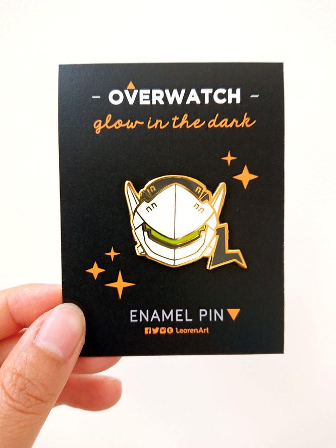 Overwatch Genji - Glow in the Dark - Hard Enamel Pin