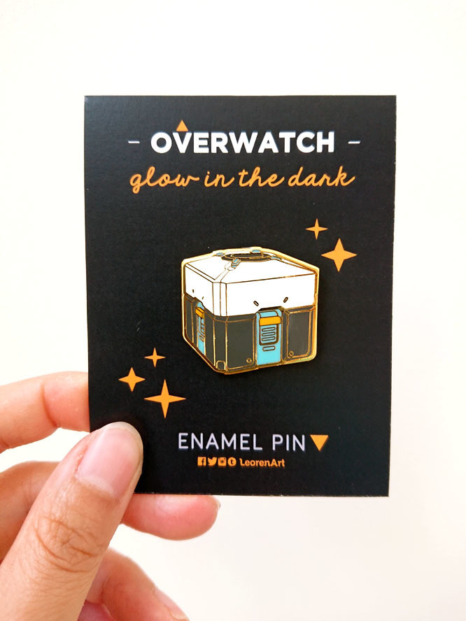 Overwatch Lootbox - Glow in the Dark - Hard Enamel Pin