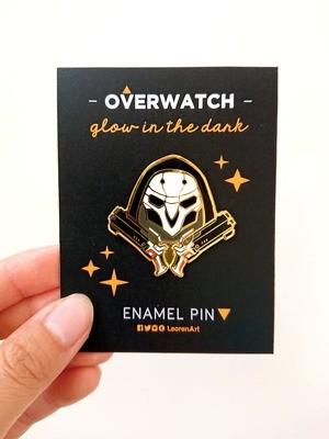 Overwatch Reaper - Glow in the Dark - Hard Enamel Pin