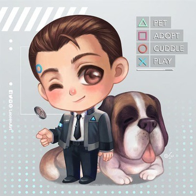 Detroit Become Human - Connor x Sumo Keychain Charm