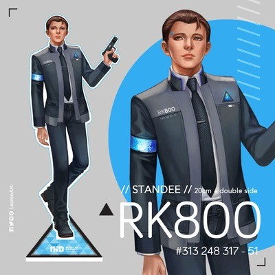 Detroit Become Human - Connor Tall Standee - RK800 x RK900