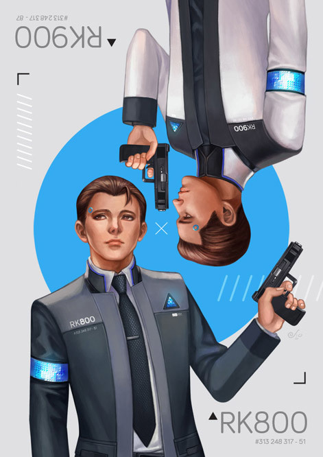 Detroit Become Human - Connor RK800 x RK900
