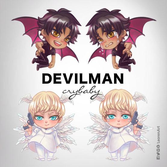 Devilman Crybaby Keychain Charm