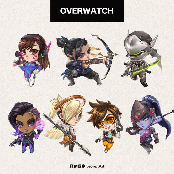 Overwatch Keychain Charm